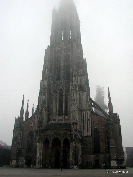 Ulm minster on a foggy day