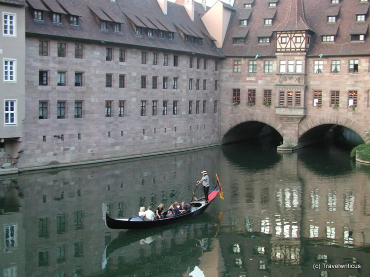 Gondola at the Pegnitz in Nuremberg, Germany