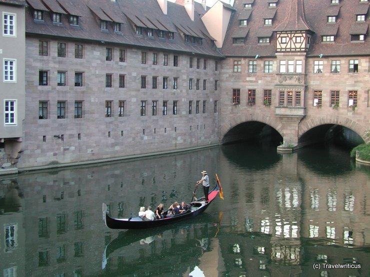 Gondola at the Pegnitz in Nuremberg, Germany