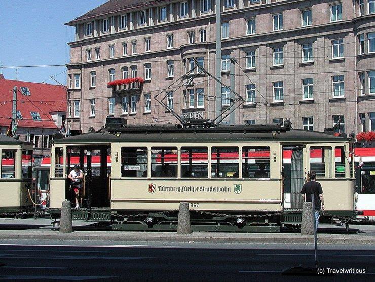 Vintage tramcar in Nuremberg, Germany