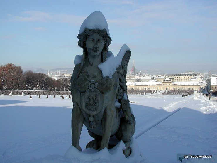 Sculpture at Belvedere Gardens in Vienna, Austria
