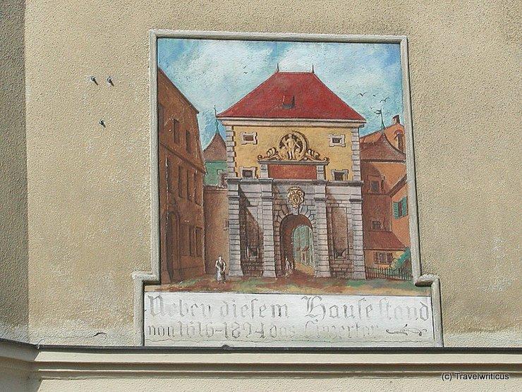 Mural portraying the Linzertor in Salzburg, Austria