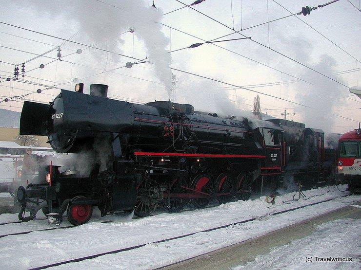 Steam locomotive BR 52.1227 in Graz, Austria