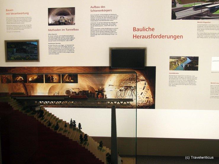 Infobox about Koralm Railway in Klagenfurt, Austria