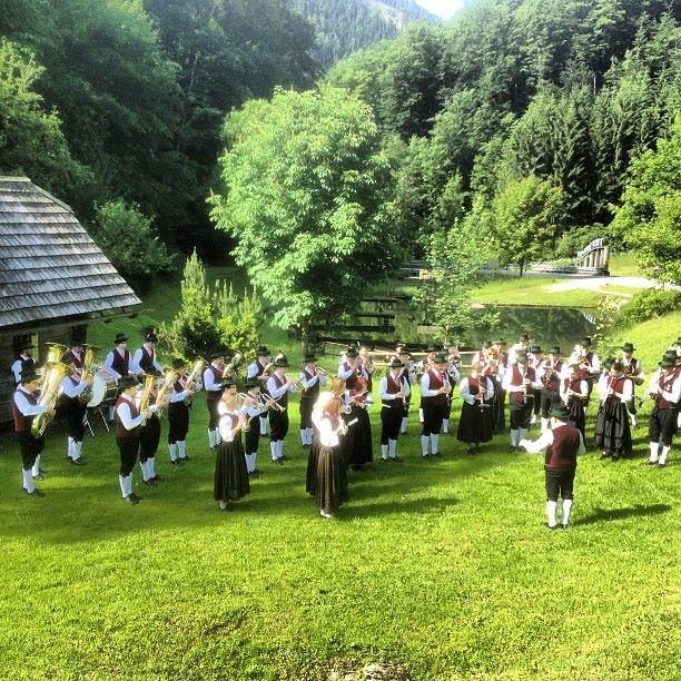 Musikverein St. Georgen am Reith playing in Mostviertel, Austria
