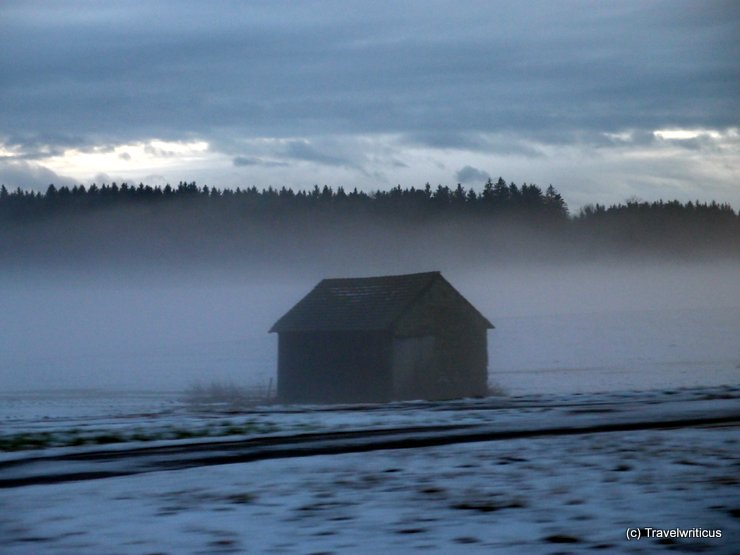 Hut in the mist