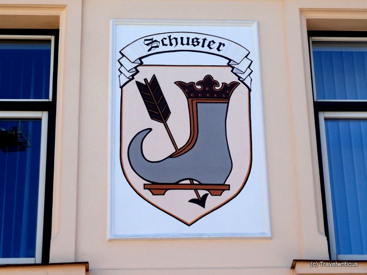 Shop sign of a shoemaker in Bad Aussee, Austria