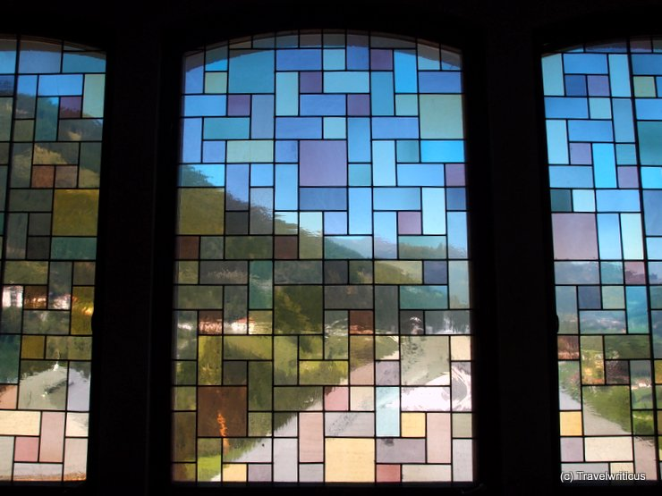 Window at the chapel of Villa Excelsior