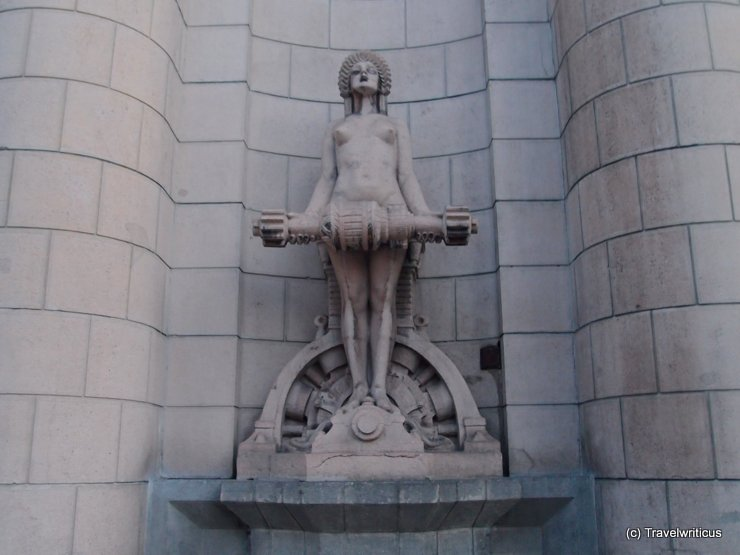 Statue at the railway station of Bolzano