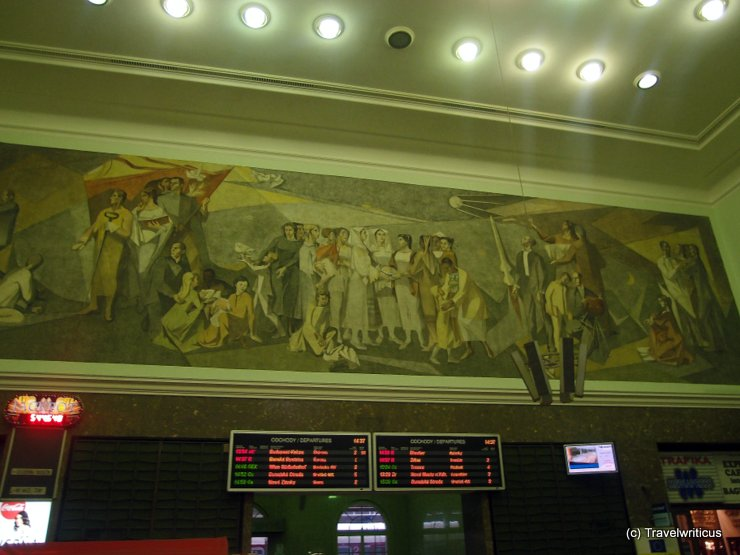 Mural at the hall of Bratislava Central Station