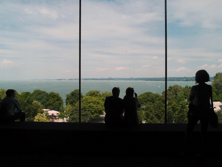View from the panorama room of the museum