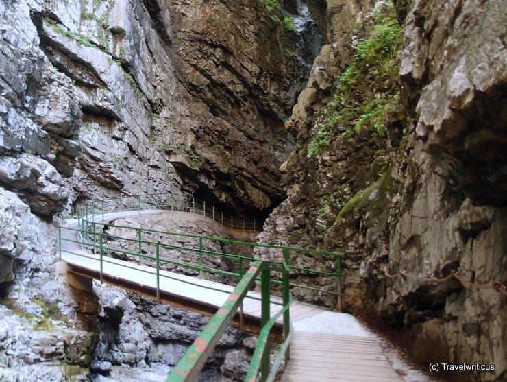 Entry of the most narrow part at Breitachklamm, Germany