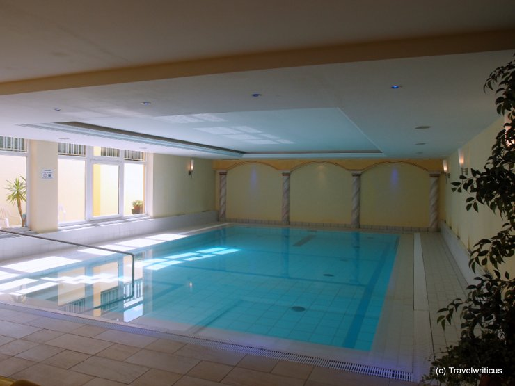 Indoor swimming pool at Hotel Alpenhof in Brixen im Thale, Austria