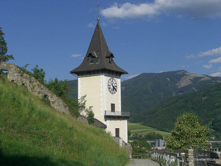 Clock tower of Bruck an der Mur, Austria