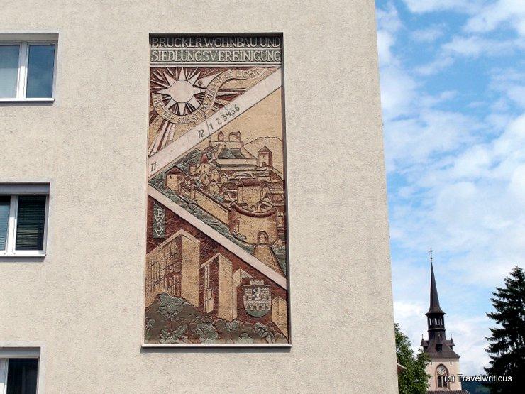 Sundial in Bruck an der Mur, Austria