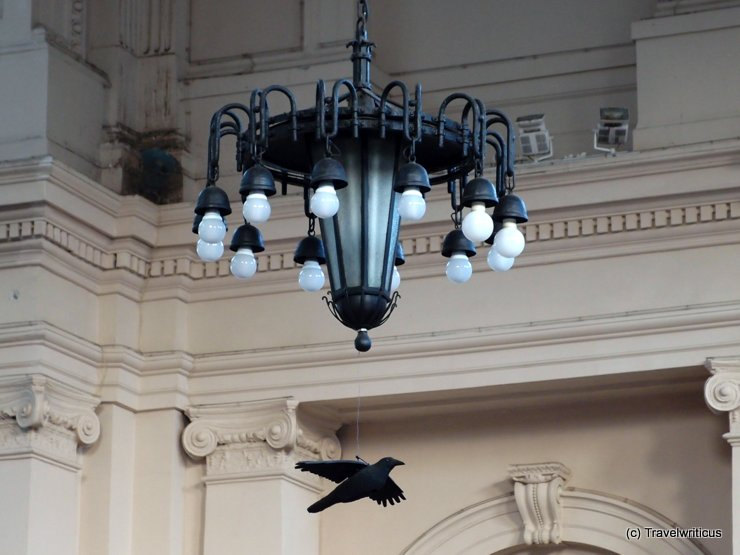 The crow at the railway station