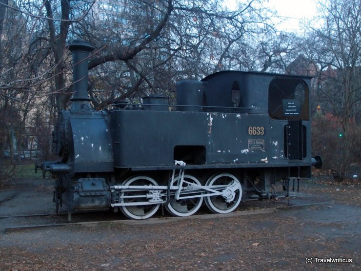 Locomotive NkNb 1-3 (1882) in Budapest, Hungary