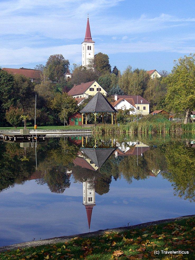 The two churches of Burgau, Austria