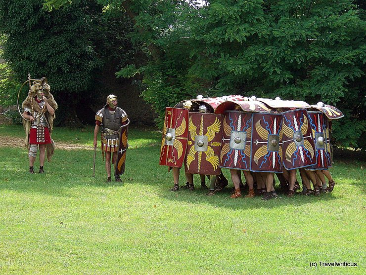 Reenactement of a Roman Testudo formation