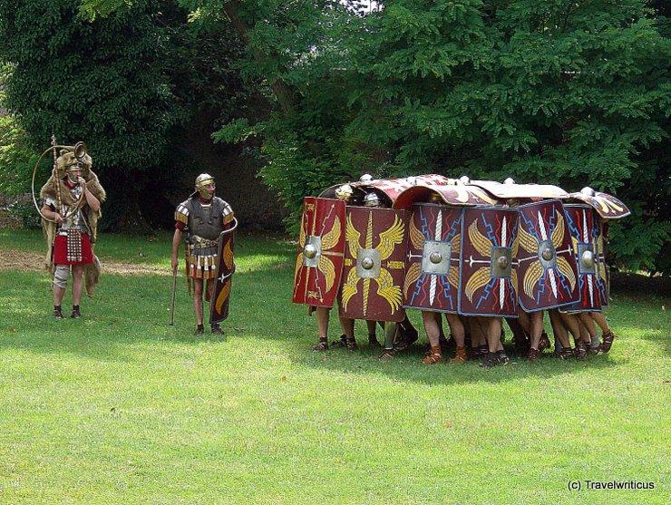 Reenactement of a Roman Testudo formation