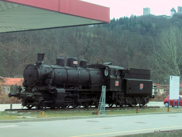 Steam locomotive at Celje, Slovenia
