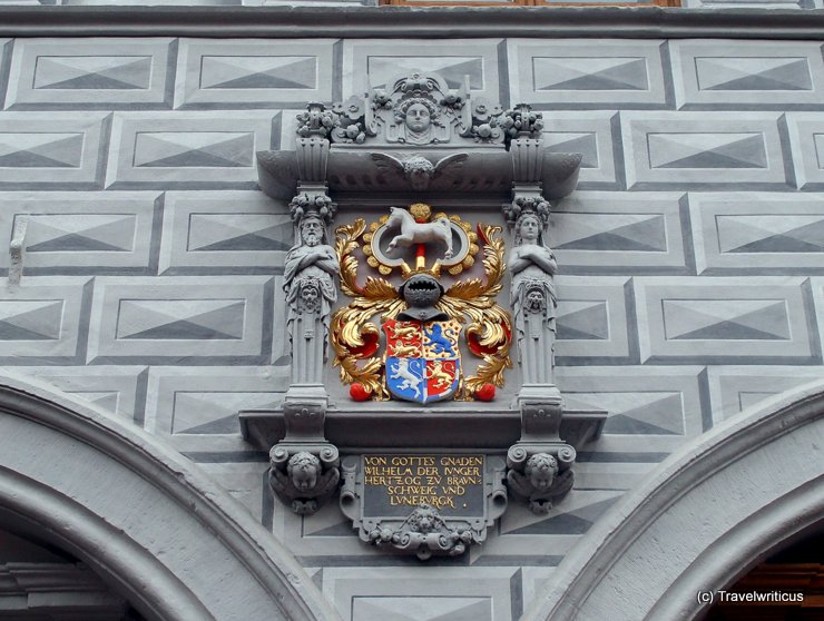 Crest at the town hall of Celle, Germany