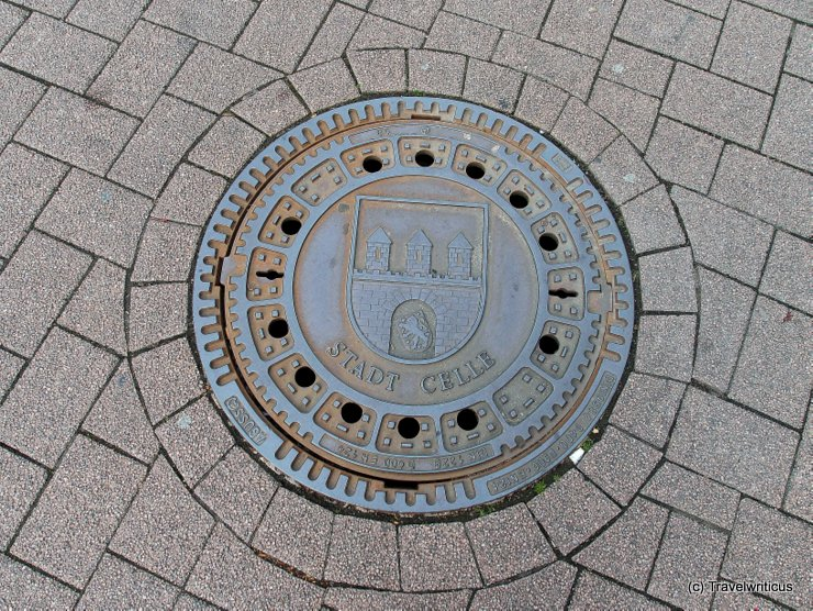 Manhole cover in Celle, Germany