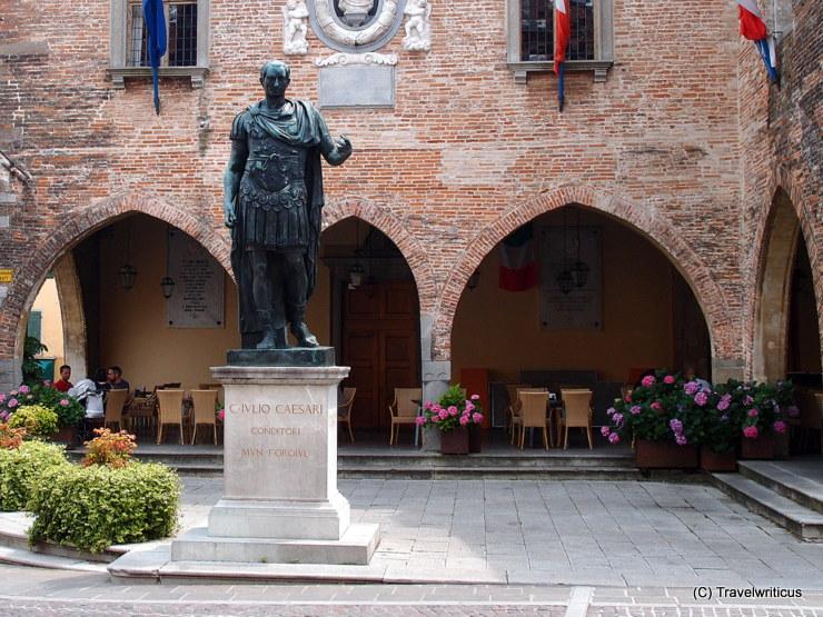 Monument to Julus Caesar in Cividale del Friuli, Italy