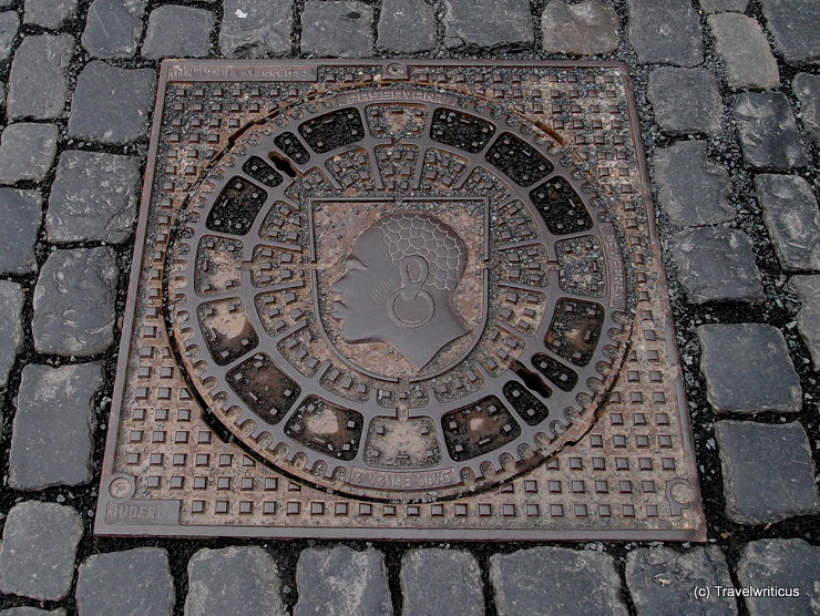 Manhole cover in Coburg, Germany