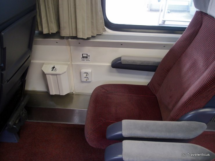 Power outlets at 1st class of Czech EuroCity