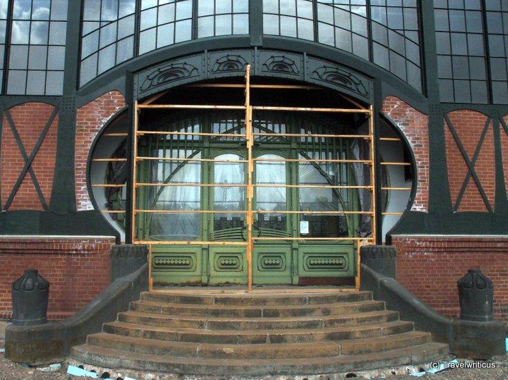 Door at the machine hall of Zeche Zollern