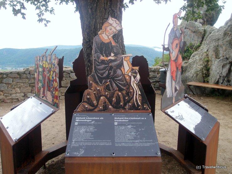 Info boards at Dürnstein Castle, Austria