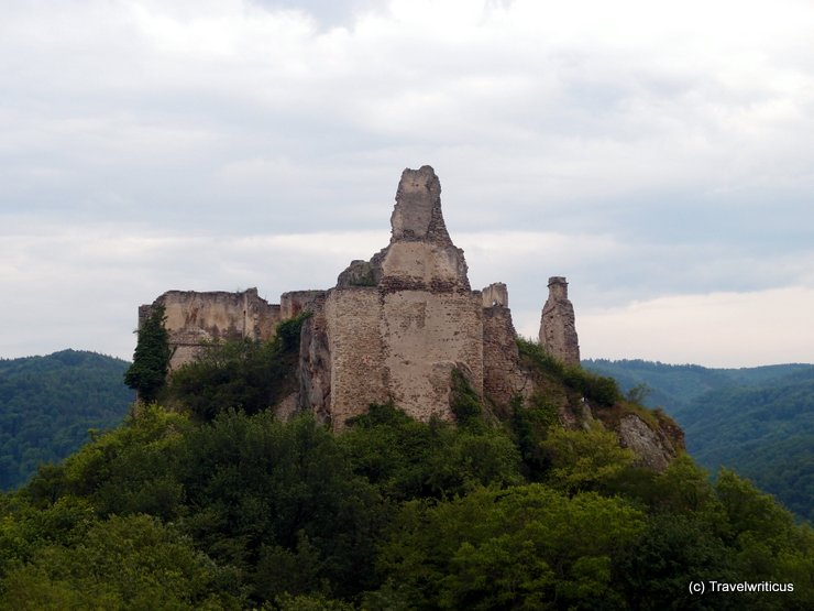 The rear of Dürnstein Castle, Austria