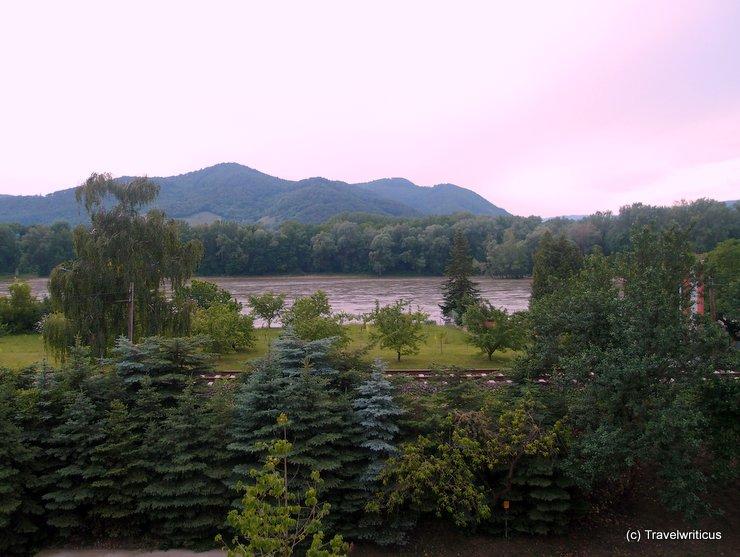 Morning view from hotel Pfeffel in Dürnstein, Austria