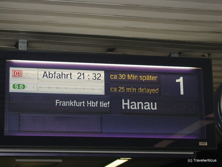 Train delay in Frankfurt am Main, Germany