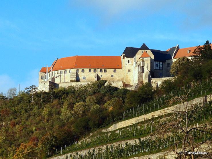 Neuenburg Castle high over Freyburg (Unstrut), Germany
