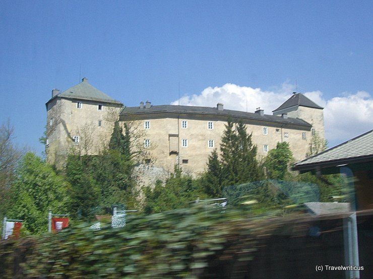 View of Burg Golling from train