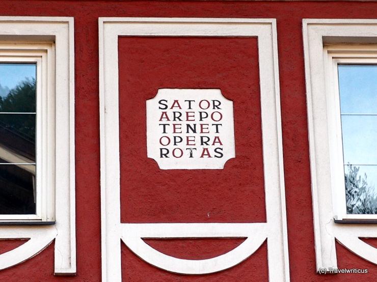 Sator square in Golling an der Salzach, Austria