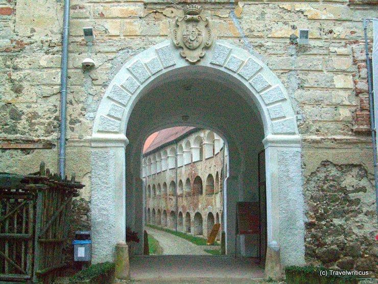 Entrance of Grad Castle in Goričko, Slovenia