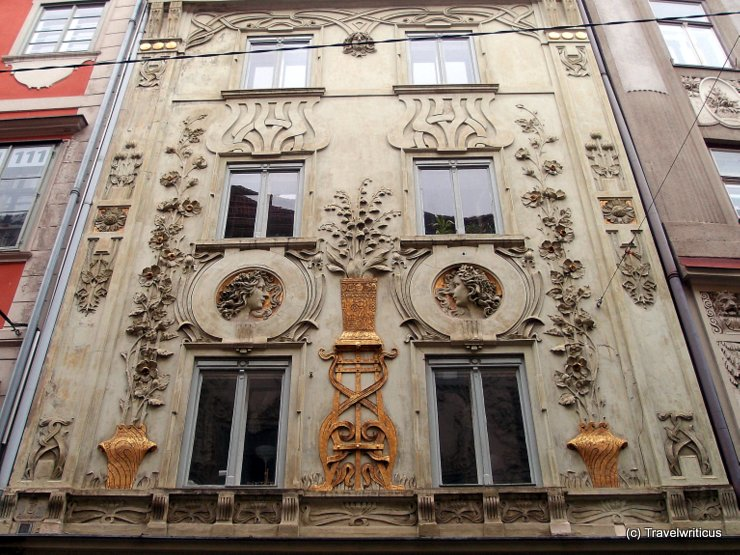 Art nouveau building in Graz, Austria