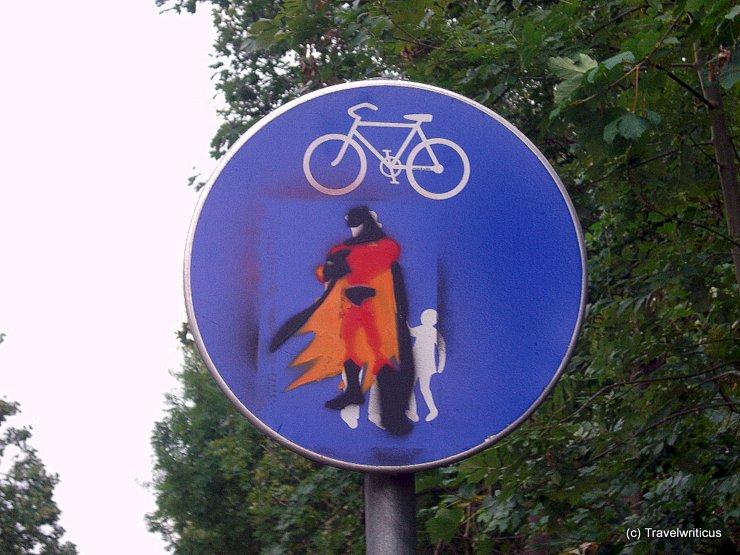 Pathway for Superman in Graz, Austria