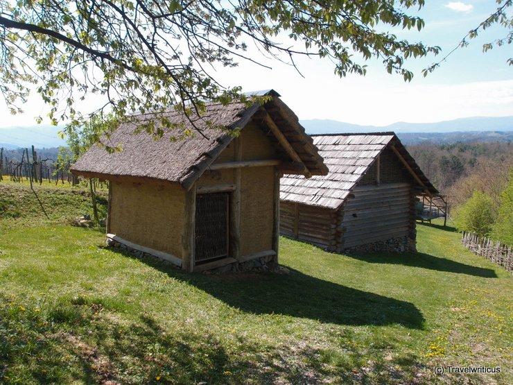 Reconstructed huts of Hallstatt culture in Großklein, Austria