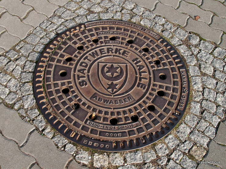 Manhole cover in Halle (Saale), Germany
