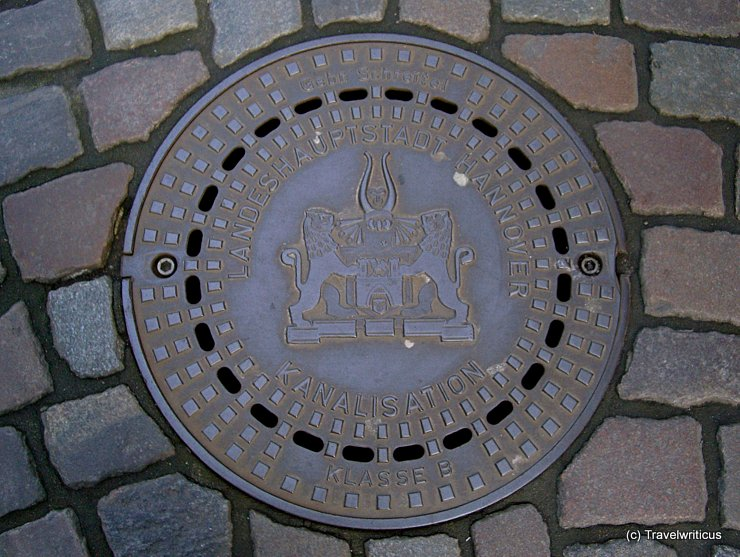 Manhole cover in Hannover, Germany