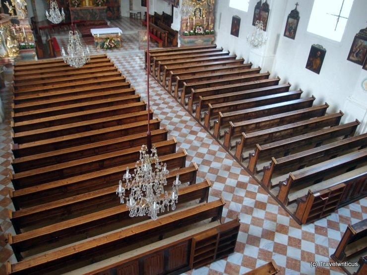 Gender gap at a church in Haus, Austria