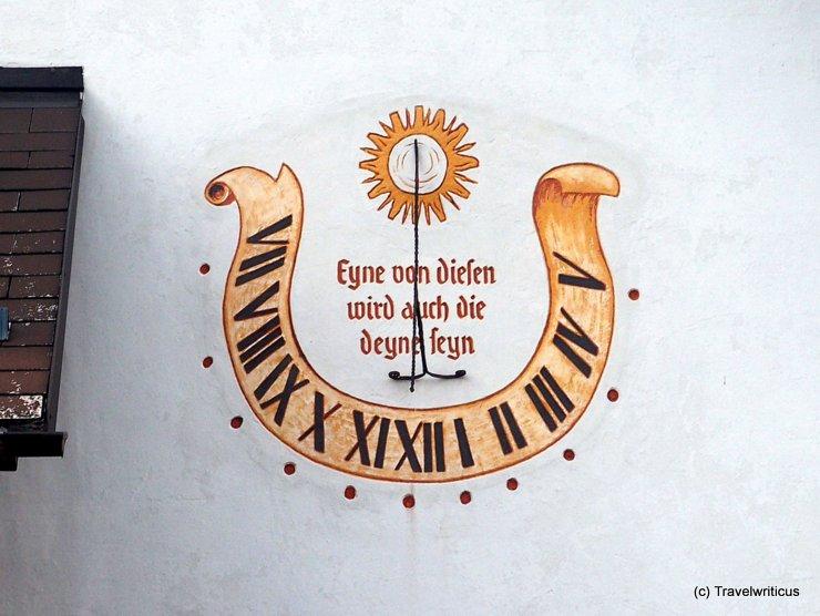 Sundial at the winter museum in Haus, Austria