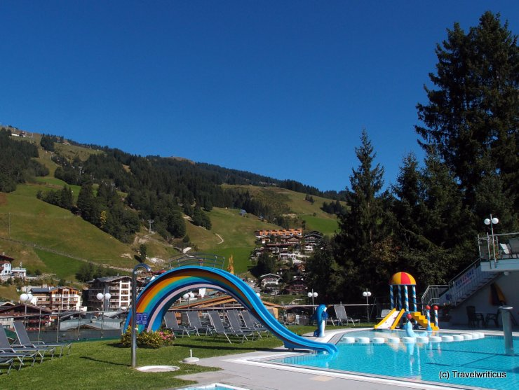 Pool at Family Hotel Egger in Hinterglemm, Austria