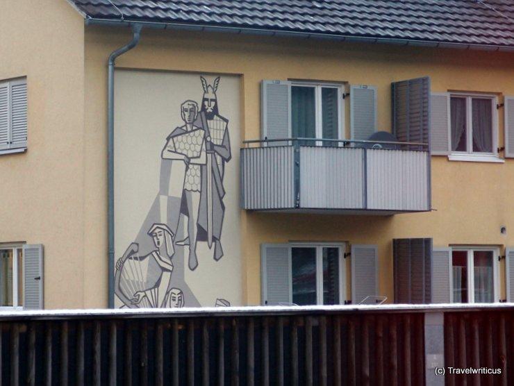 Historical mural in Hohenems, Austria