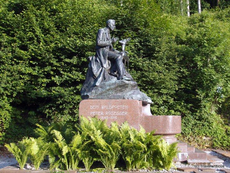 Monument of Peter Rosseger in Kapfenberg, Austria
