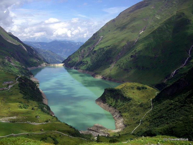 Wasserfallboden reservoir in Kaprun, Austria